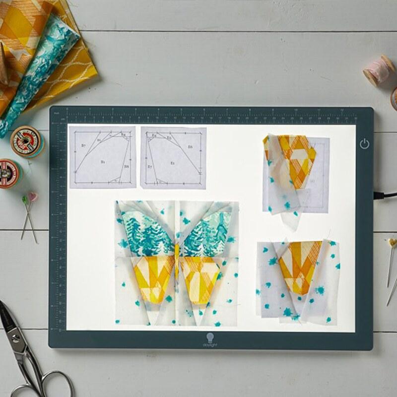 caja de luz para calcar tus proyectos, diseños o patrones
